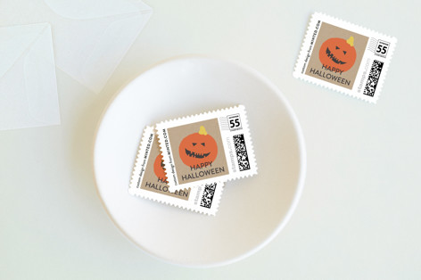Colorful Halloween Holiday Stamps