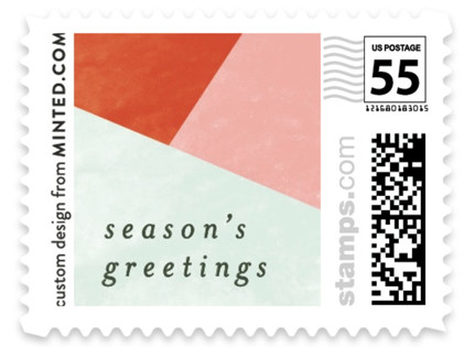 Bold Blocks of Color Holiday Stamps