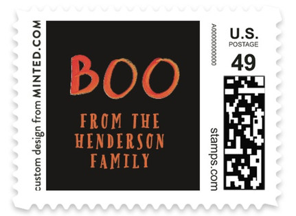 Halloween Boo Holiday Stamps