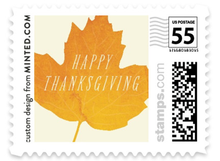 Autumn Leaf Holiday Stamps