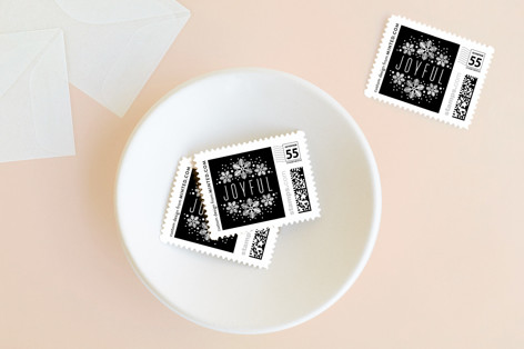 Snowy Headline Holiday Stamps