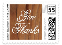 Give Thanks Holiday Stamps