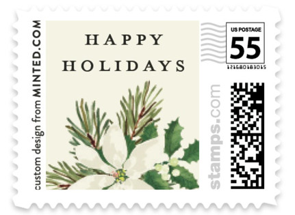 Poinsettia Greens Holiday Stamps
