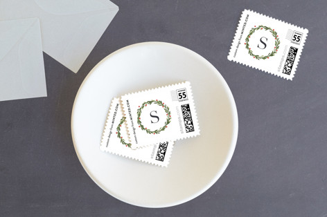 Foraged greens Holiday Stamps