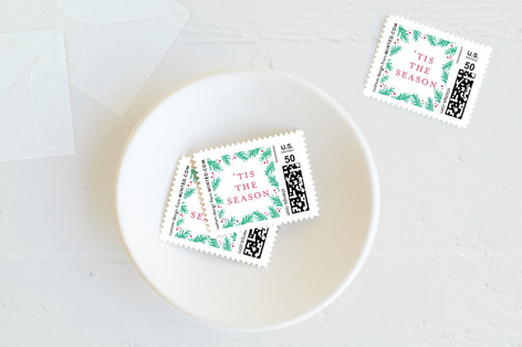 Festive Pine Frame Holiday Stamps