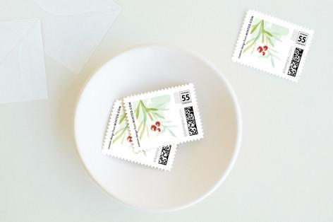 Sketchy Leaf Holiday Stamps