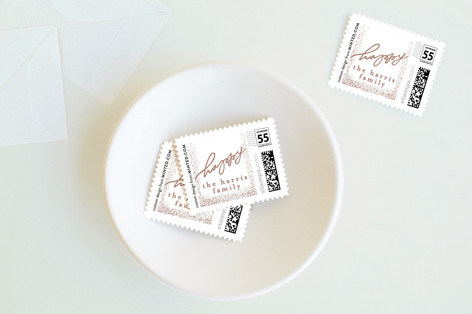 Handlettered Charm Holiday Stamps
