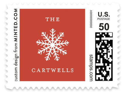 Snow Frame Holiday Stamps