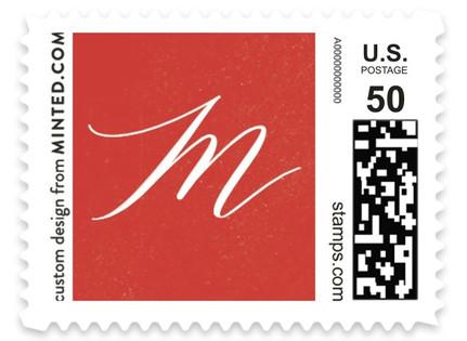 Elegant Floral Frame Holiday Stamps