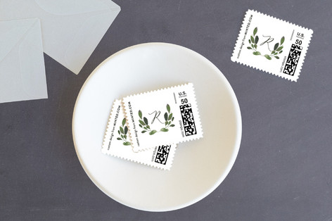 Natural Wreath Holiday Stamps