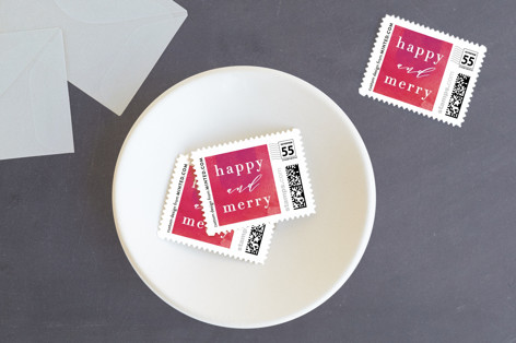 Sparkling Wine Holiday Stamps