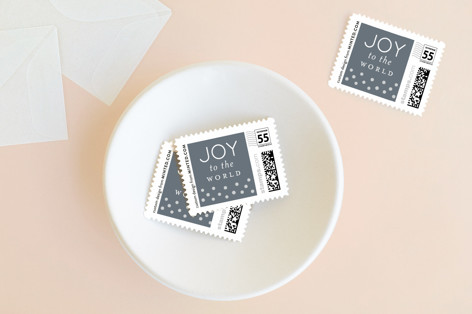 Dotted Joy Holiday Stamps