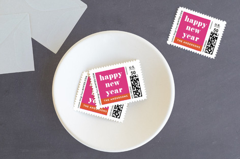 Bright year Holiday Stamps