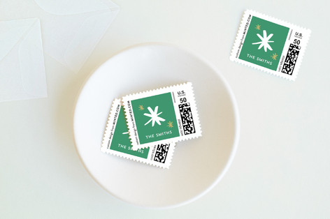 Snowflake Cheer Holiday Stamps
