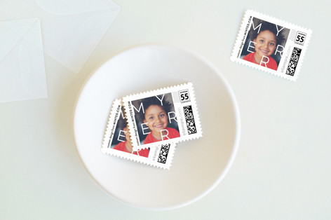 Scattered Merry Holiday Stamps