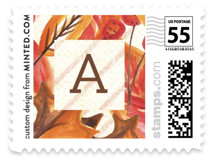 Leafy Friendsgiving Holiday Stamps
