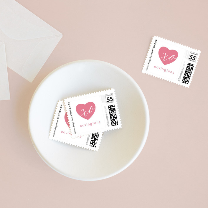 """""""Our Love"""" - Holiday Stamps in Marshmallow by Kann Orasie."""