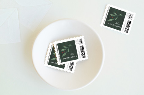 Classic Greenery Holiday Stamps