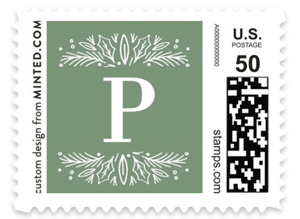 Blessing Letter Pines Holiday Stamps