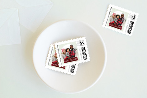 Photo Globe Holiday Stamps