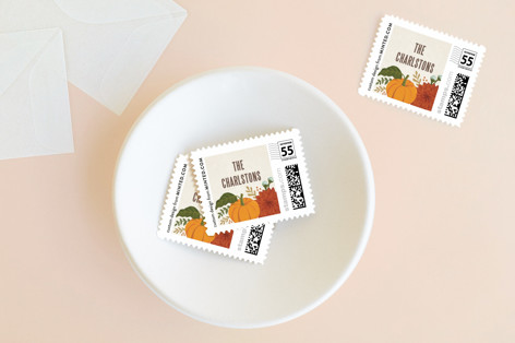 festive give thanks Holiday Stamps