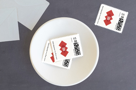 Modern Argyle Holiday Stamps