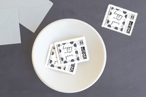 New Year Garland Holiday Stamps