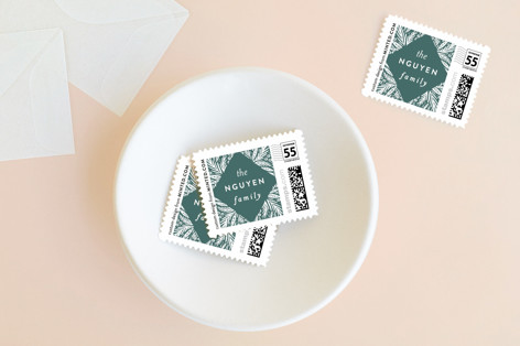 Bold Diamond Pines Holiday Stamps