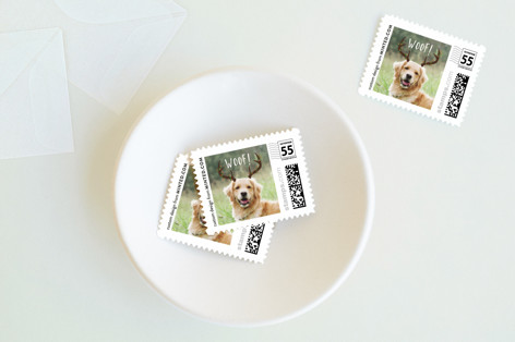 Woof Holiday Stamps