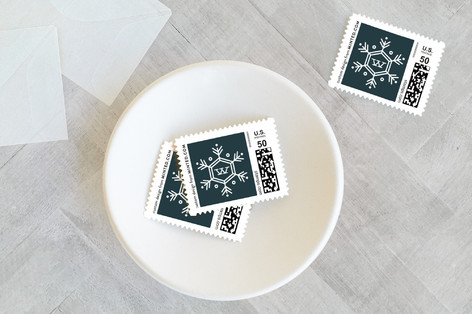 Seasonal Monogram Holiday Stamps