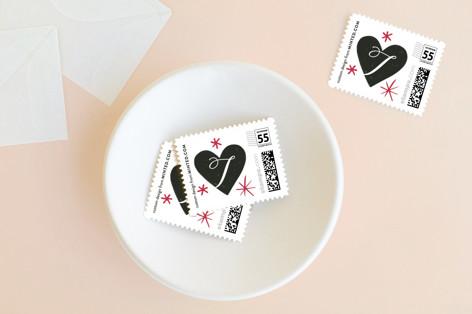 Valentine Script Sparkle Holiday Stamps