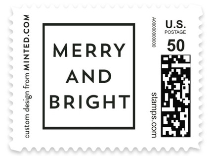 Contemporary Cube Holiday Stamps