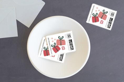 present perfect Holiday Stamps