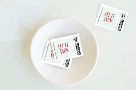 Elf Gifts Holiday Stamps