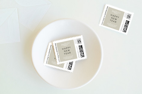 modern new year Holiday Stamps