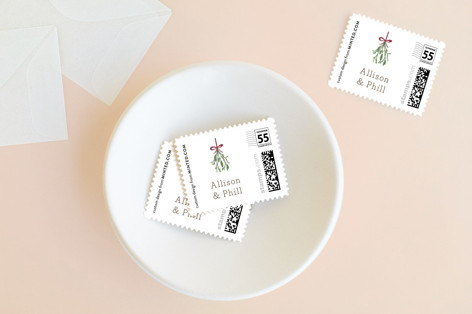 Mistletoe Kiss Holiday Stamps