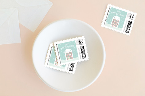 Peaceful Winter Holiday Stamps