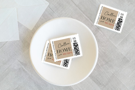 Greetings from Home Holiday Stamps