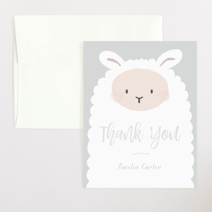 """quiet life"" - Flat Baby Shower Thank You Cards in Cloudy by peetie design."
