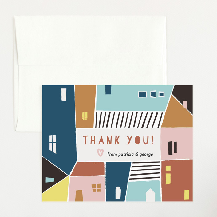 """Papercut Village"" - Flat Baby Shower Thank You Cards in Earth by lulu and isabelle."