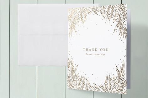 Botanical Filigree Foil-Pressed Baby Shower Thank You Cards