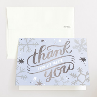 Baby It's Cold Outside Foil-Pressed Baby Shower Thank You Cards