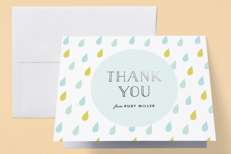 Safari Soiree Foil-Pressed Baby Shower Thank You Cards