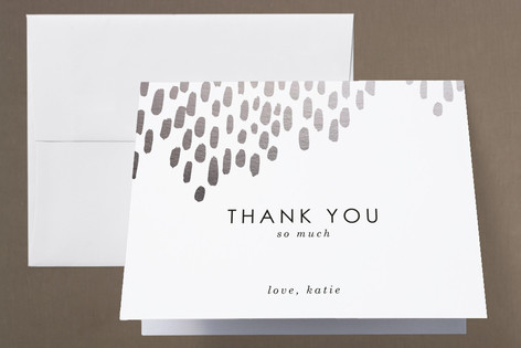 Modern Dash Foil-Pressed Baby Shower Thank You Cards