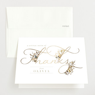 Little Garden Foil-Pressed Baby Shower Thank You Cards