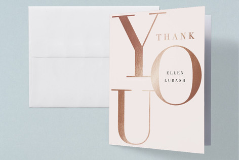 Runway Mom Foil-Pressed Baby Shower Thank You Cards