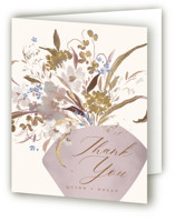 This is a purple baby shower thank you card by Grace Kreinbrink called Modern Vase with foil-pressed printing on strathmore in standard.