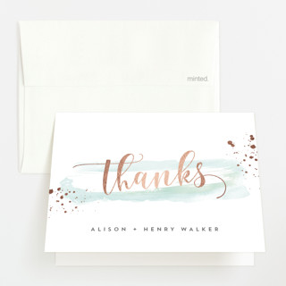 Modernista Foil-Pressed Baby Shower Thank You Cards