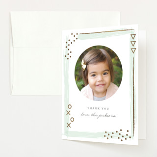Patch Foil-Pressed Baby Shower Thank You Cards