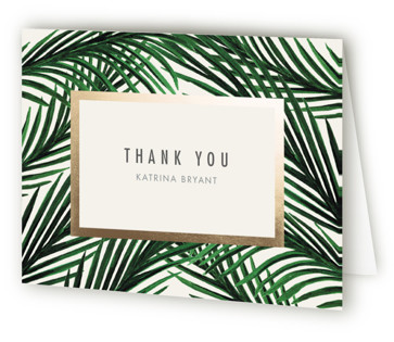 Tropical Love Foil-Pressed Baby Shower Thank You Cards